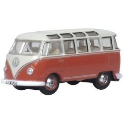 N GAUGE VW T1 SAMBA BUS SEALING WAX RED/BEIGE GREY