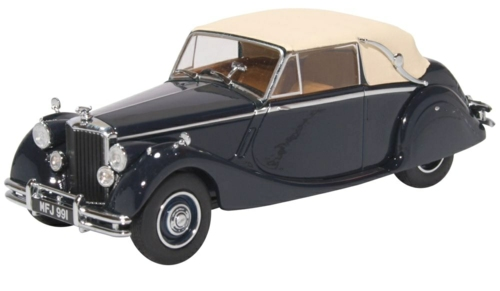 1/43 JAGUAR MKV CLOSED DARK BLUE/TAN