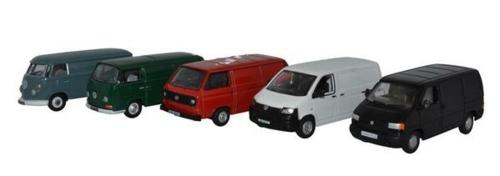 1/76 5 PIECE VW VAN SET T1/T2/T3/T4/T5